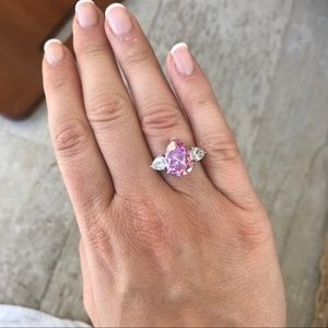 Pink Diamond CZ Ring Size 6